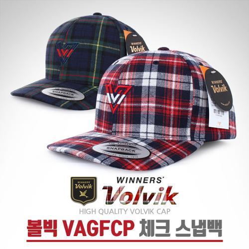 [2018년신제품]볼빅 VAGFCP 체크 스냅백 프리사이즈 골프캡 모자