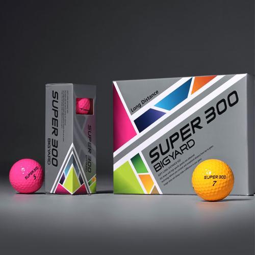 [주말단3일,앵콜!][블랙골프데이] 넥센 빅야드 고반발 슈퍼300 3피스 골프공/넥센골프공/빅야드골프공/골프볼/컬러볼/필드용품/골프용품