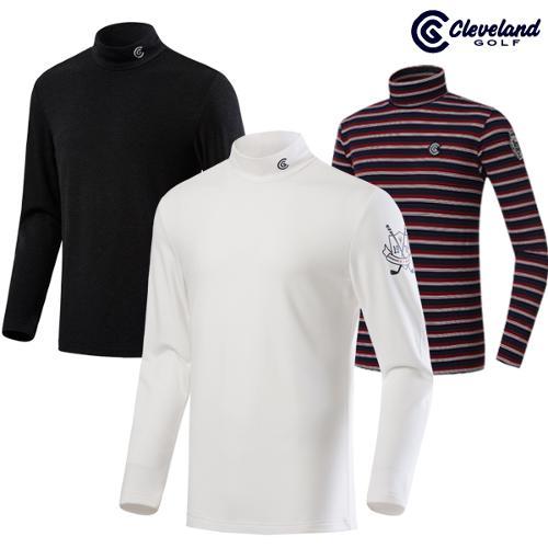 [클리브랜드골프] HOT 보온 기모소재 남성 하프넥 긴팔 골프티셔츠 3종택1_CG213518