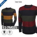 [PARK TOWN] 파크타운 삼색 패턴 니트셔츠  Model No_E1-7M025