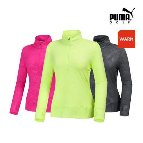 [푸마골프] 여성 블름 반짚업 팝오버 긴팔티셔츠 3종 택1_GA