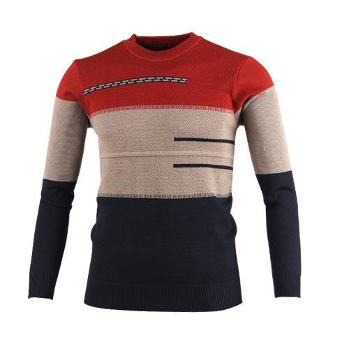 럭스골프 스트라이프 라운드 니트 스웨터 MS7W427