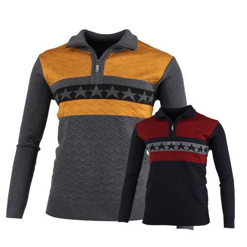 럭스골프 별포인트 반집업 니트 스웨터 MS7W430