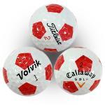 [등급 A-] 브랜드 혼합 축구공 무늬 로스트볼 10알 LBMIX010