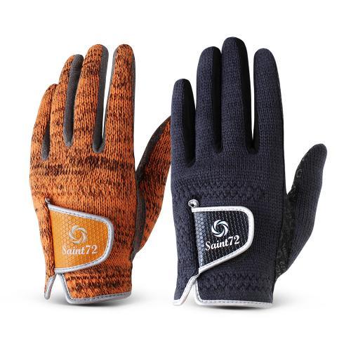 세인트72 SAINT72 니트 겨울용 방한 양손 골프장갑