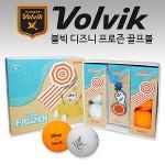 볼빅 비비드 프로즌 올라프 3피스 골프볼+볼마커 세트