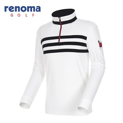 [레노마골프]17FW 남성 스트라이프 패치 티셔츠 RMTHG4108-100