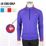 [일본수입정품] 르꼬끄 QG1048 하프집업 남성 골프티셔츠