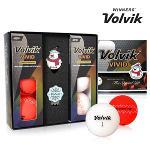 2017 볼빅 비비드 크리스마스 에디션 골프공 6구 하프더즌 볼마커 골프볼 칼라볼 Volvik Christmas Edition