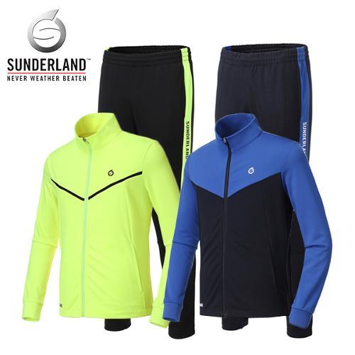 선덜랜드 SUNDERLAND 남성 스포티 라인 로고포인트 축구 트레이닝 상하의세트 - 26751TR01