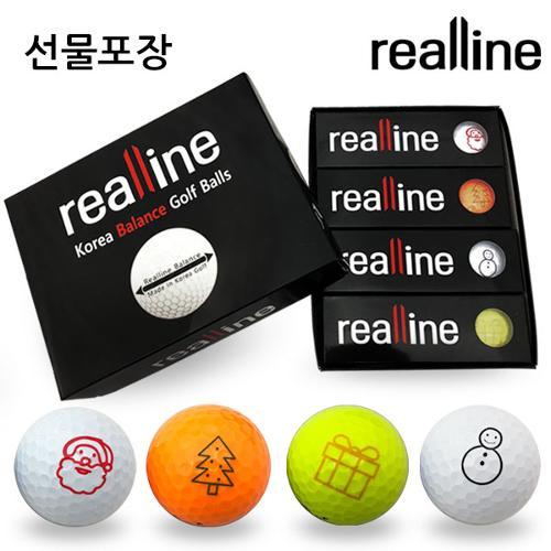 리얼라인 스크린S 캐릭터 에디션 골프공 2피스 (12알/1다즌)