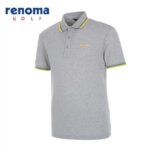 [레노마골프]남성 배색 트리밍 반팔 티셔츠 RATS25531-MG