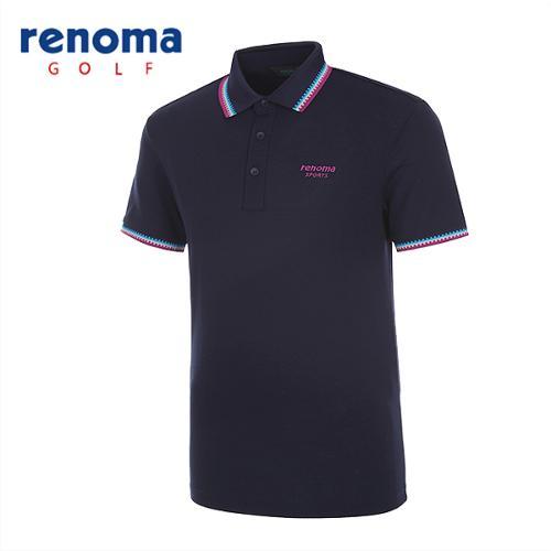 [레노마골프]남성 배색 트리밍 반팔 티셔츠 RATS25531-NY