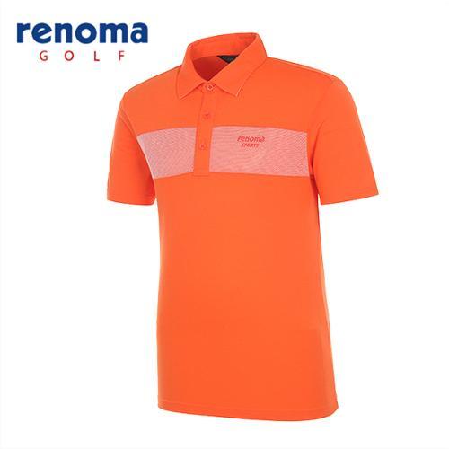 [레노마골프]남성 초경량 배색 반팔 티셔츠 RATS28531-DO