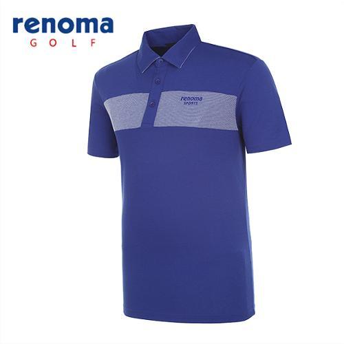 [레노마골프]남성 초경량 배색 반팔 티셔츠 RATS28531-RB