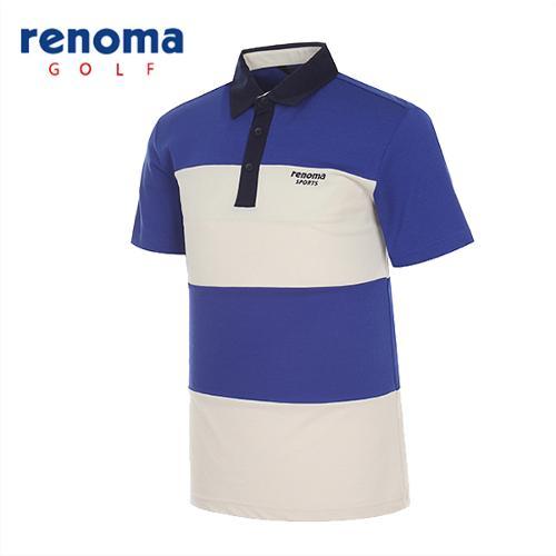[레노마골프]남성 블록 카라 반팔 티셔츠 RATS2C531-RB