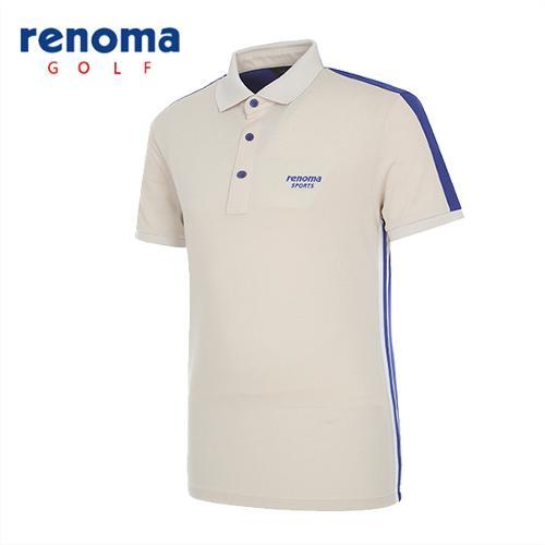 [레노마골프]남성 블록 스트레치 반팔 티셔츠 RATS2D531-BE