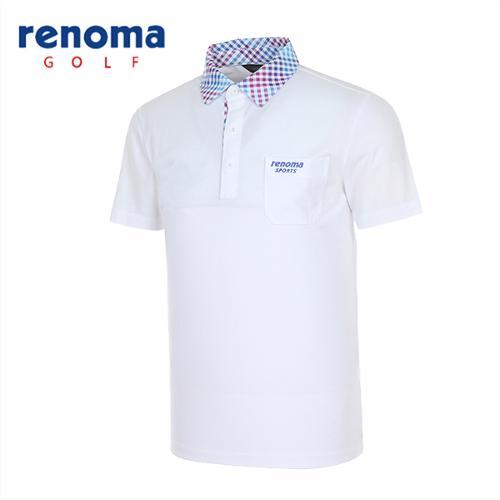 [레노마골프]남성 도트 카라 반팔 티셔츠 RATS31531-WH