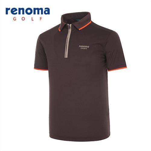 [레노마골프]남성 스포티 반집업 반팔 티셔츠 RATS32531-BR