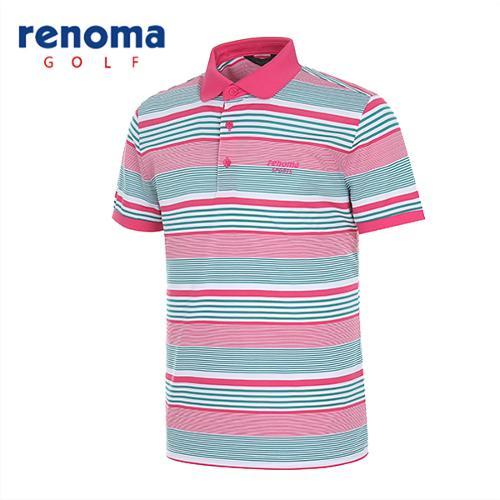 [레노마골프]남성 믹스 스트라이프 반팔 티셔츠 RATS40531-HP