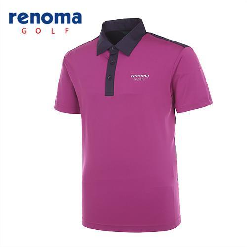[레노마골프]남성 스트레치 블럭 반팔 티셔츠 RATS49531-PP