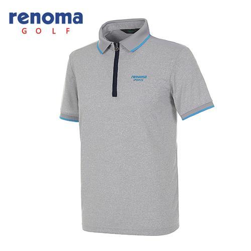 [레노마골프]남성 스포티 반집업 반팔 티셔츠 RATS32531-MG
