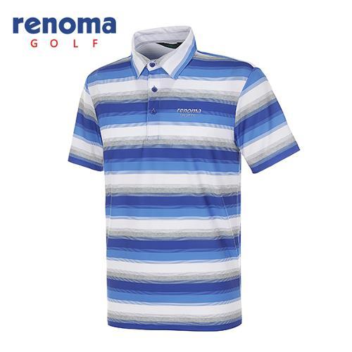 [레노마골프]남성 올오버 스트라이프 스트레치 반팔 티셔츠 RATS45531-RB