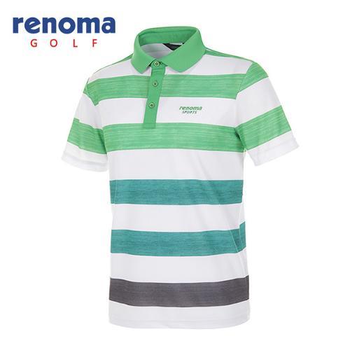 [레노마골프]남성 그라데이션 폴로넥 반팔 티셔츠 RATS30531-GN