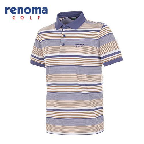 [레노마골프]남성 멀티 스트라이프 반팔 폴로넥 티셔츠 RATS40531-IN