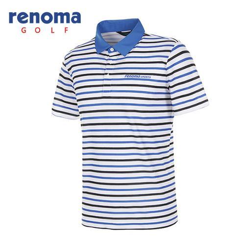 [레노마골프]남성 멀티 스트라이프 반팔 카라 티셔츠 RATS42631-RB