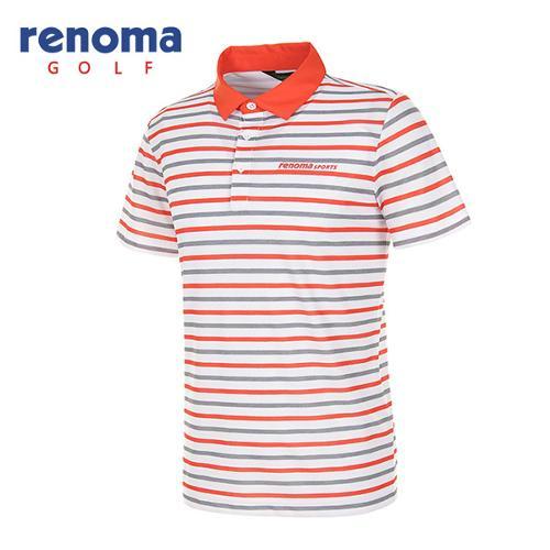 [레노마골프]남성 멀티 스트라이프 반팔 카라 티셔츠 RATS42631-DO