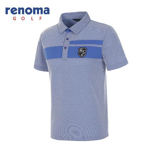 [레노마골프]남성 와펜 로고 반팔 카라 티셔츠 RATS2G631-RB