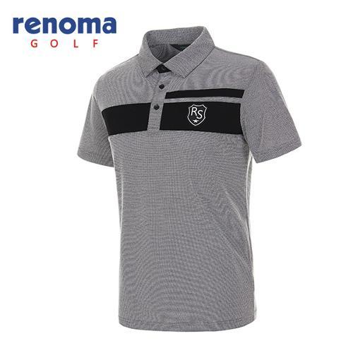 [레노마골프]남성 와펜 로고 반팔 카라 티셔츠 RATS2G631-BK
