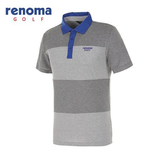 [레노마골프]남성 배색 카라 반팔 피케 티셔츠 RATS2C531-CG