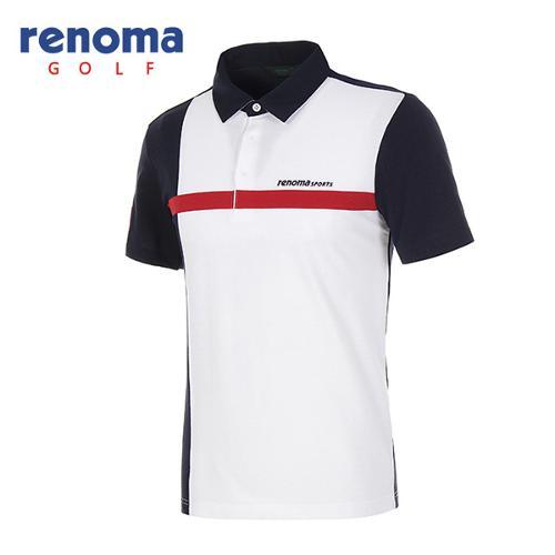 [레노마골프]남성 컬러블럭 발팔 카라 티셔츠 RATS32631-NY