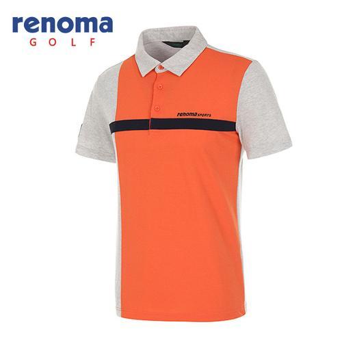 [레노마골프]남성 컬러블럭 발팔 카라 티셔츠 RATS32631-MG