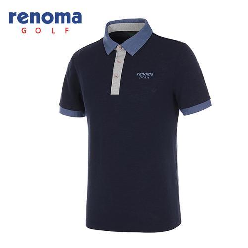 [레노마골프]남성 배색 카라 반팔 폴로넥 티셔츠 RATS35631-NY