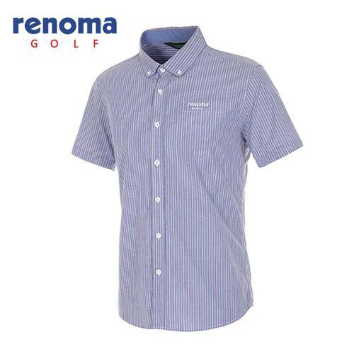 [레노마골프]남성 더블 스트라이프 코튼 반팔 셔츠 RAWS26531-RB