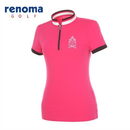 [레노마골프]여성 스포티 집업 반팔 티셔츠 RATS77531-HP