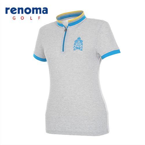 [레노마골프]여성 스포티 집업 반팔 티셔츠 RATS77531-MG