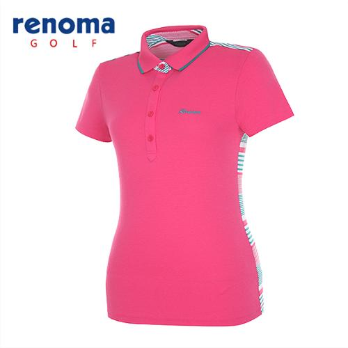 [레노마골프]여성 믹스 컬러 카라 반팔 티셔츠 RATS7P531-HP