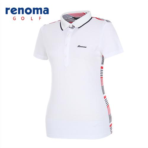[레노마골프]여성 믹스 컬러 카라 반팔 티셔츠 RATS7P531-WH