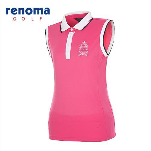[레노마골프]여성 카라 배색 민소매 티셔츠 RATS93531-HP