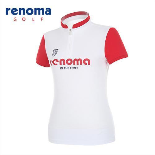 [레노마골프]여성 로고 반집업 반팔 티셔츠 RATSW3531-WH