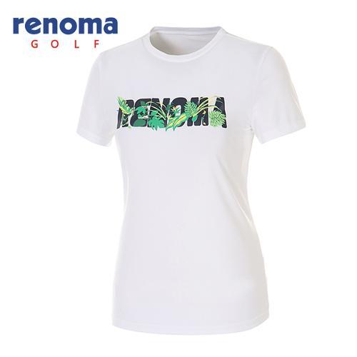 [레노마골프]여성 플로럴 로고 프린트 스트레치 티셔츠 RATSW7531-WH