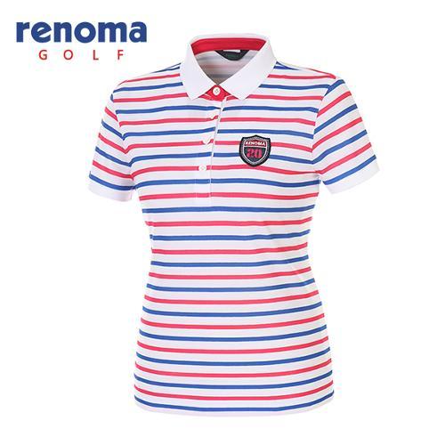 [레노마골프]여성 멀티 스트라이프 피케 반팔 티셔츠 RATS92631-HP