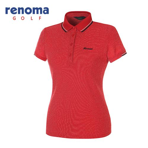 [레노마골프]여성 멜란지 피케 반팔 카라 티셔츠 RATS75531-RD