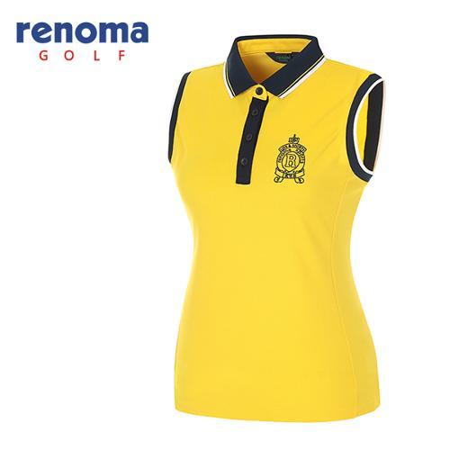 [레노마골프]여성 카라 배색 민소매 티셔츠 RATS93531-YE