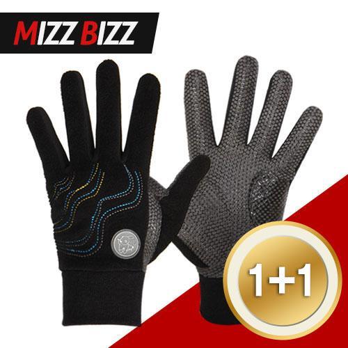 [1+1특가] Mizz Bizz 겨울 남성 방한장갑 양손 1켤레 (블랙)