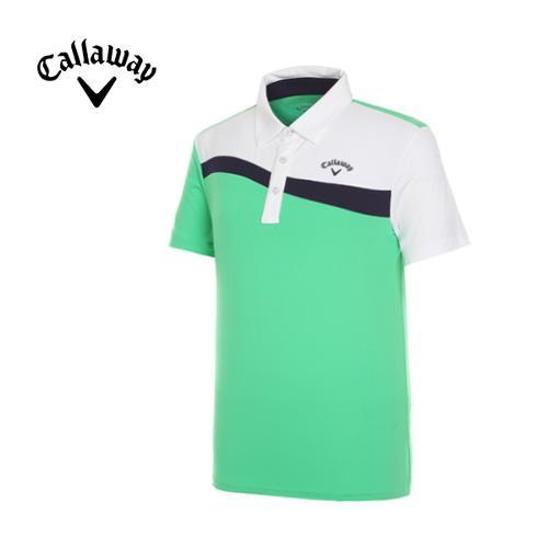 [캘러웨이]남성 언발란스 카라 반팔 티셔츠 CMTYF2122-804
